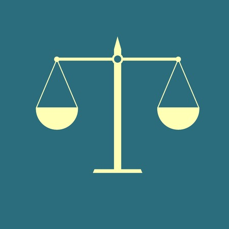 acquittal: Justice scale icon Illustration