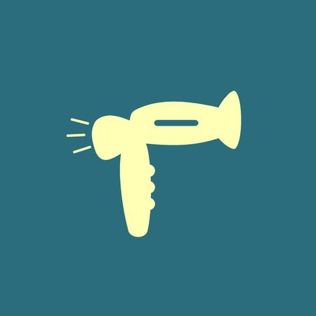 hair dressing: Hairdryer sign icon