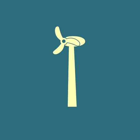 milling: windmill icon Illustration