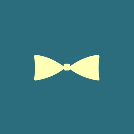 official wear: Bow tie icon or sign isolated Illustration