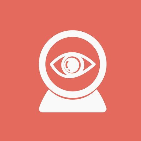 web: web camera icon Illustration