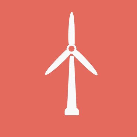 windfarm: wind mill icon Illustration