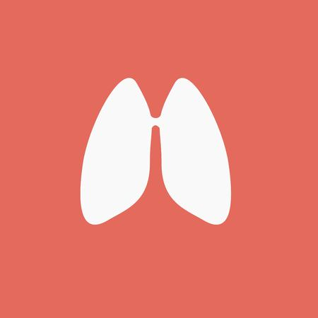 pulmones: Lungs - vector icon Illustration