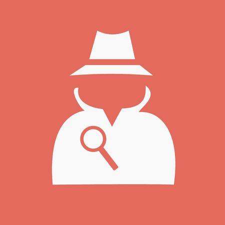 Secret service agent icon Illustration