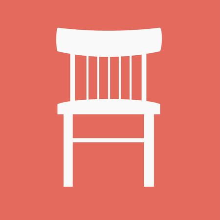 cubicle: Modern vector office chair graphic