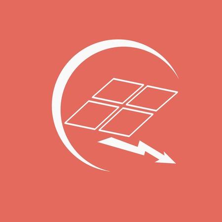 panel: solar panel icon Illustration