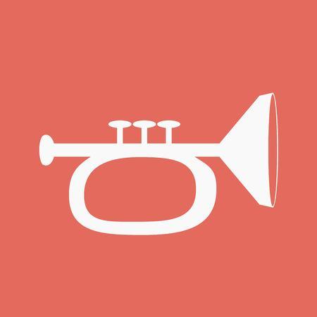 blare: Vector illustration of trumpet Illustration