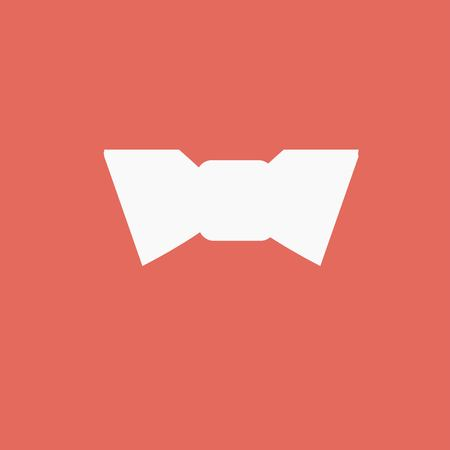 affairs: Bow tie icon or sign isolated Illustration