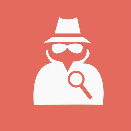 evade: Secret service agent icon Illustration