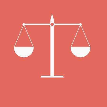 juridical: Justice scale icon Illustration