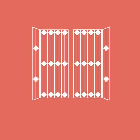 gate icon Illustration