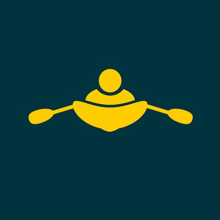 canoeing icon Illustration