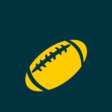 college footbal: American football icon