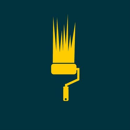 renew: Paint roller icon Illustration