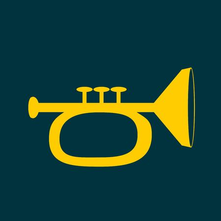 acoustics: Vector illustration of trumpet Illustration