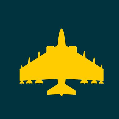 military aircraft: Military aircraft icon