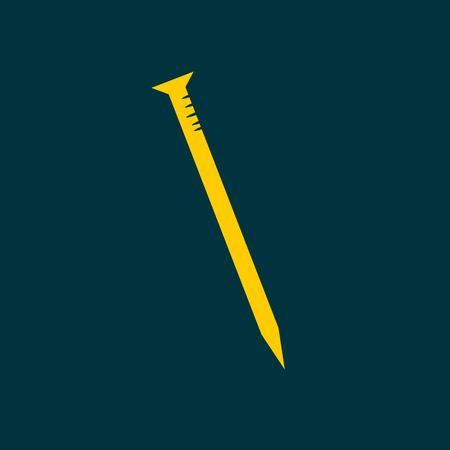 impact tool: nail icon Illustration