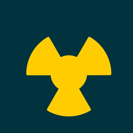 fission: radiation icon. Radiation symbol.
