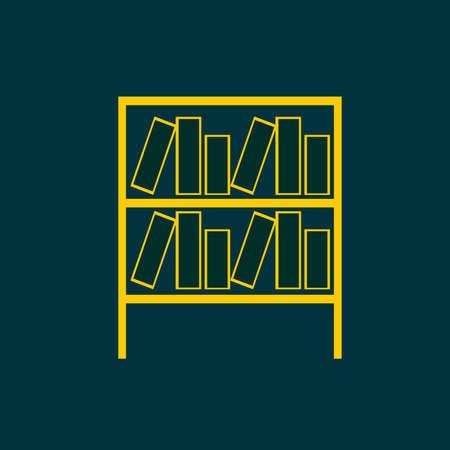 bibliography: bookshelf icon