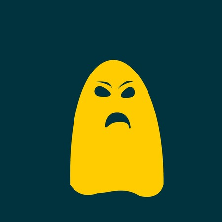 ghastly: ghost icon Illustration