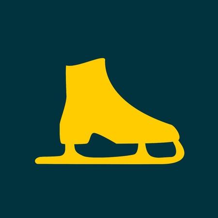 スケート アイコン。フィギュア スケートのシンボル。フラットのベクトル図