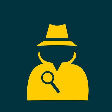 secret service: Secret service agent icon Illustration