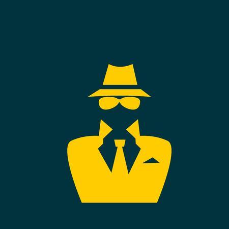incognito: Secret service agent icon Illustration