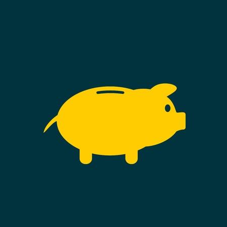 signo de pesos: icono de la hucha. Pictograma de la hucha de Vectores