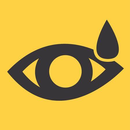 vision loss: Eye sign icon