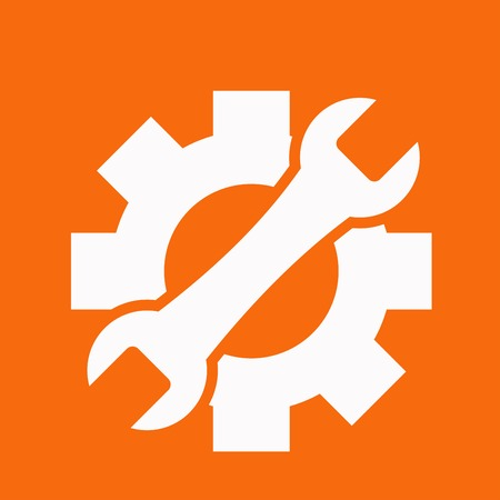 cog gear: Service icon Illustration