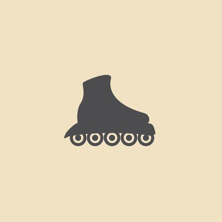 casters: The roller skate icon. Skates symbol