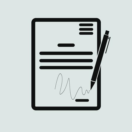 pacto: El icono del contrato. Acuerdo y firma, pacto, acuerdo, símbolo de convenciones