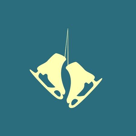 skates: The skates icon. Figure skates symbol. Illustration