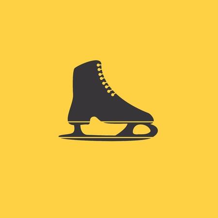 The skates icon. Figure skates symbol. Illustration