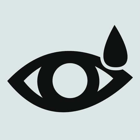 vision loss: Eye sign icon