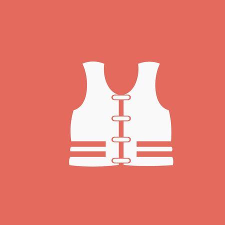 vest: life vest Illustration