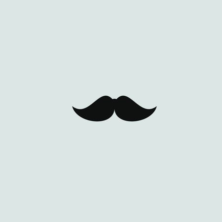 mustaches: mustaches vector icon Illustration
