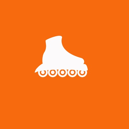 casters: The roller skate icon. Skates symbol