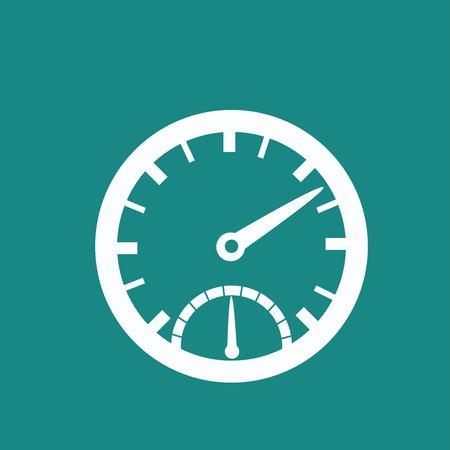 mileage: Speedometer icon Illustration