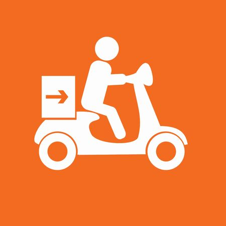 moped: delivery moped icon