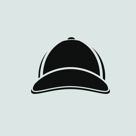 peak hat: baseball cap icon