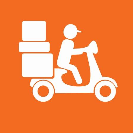 icono de la entrega del ciclomotor Ilustración de vector