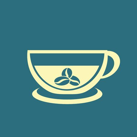 decaf: Coffee cup icon Illustration
