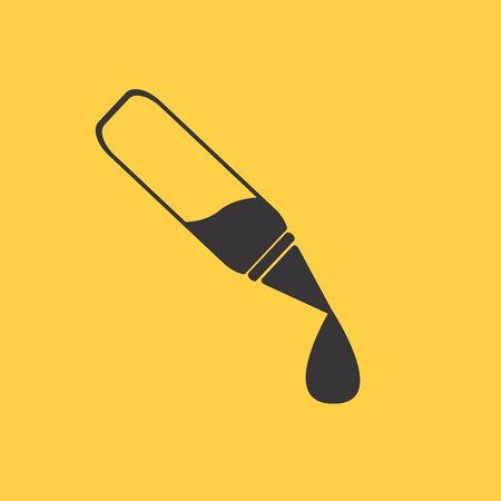 eyedropper: Ear or Eye Drop Icon Illustration