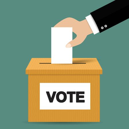 voting: Voting concept in flat style