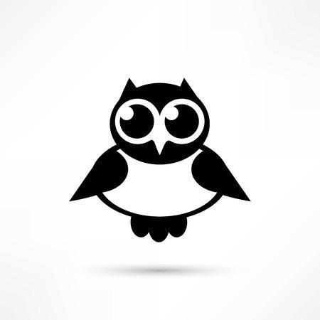 owl icon design Illustration