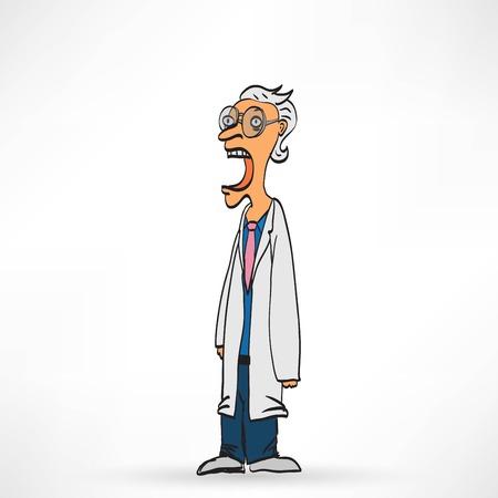 Vector illustration of Doctor man