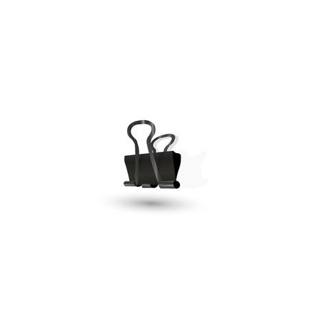binder clip: Binder clip icon. Illustration