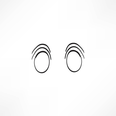 vision loss: Eye vector sketch icon isolated on background. Hand drawn Eye icon. Eye sketch icon for infographic, website or app.