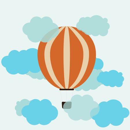drift: Hot Air Balloon and Clouds